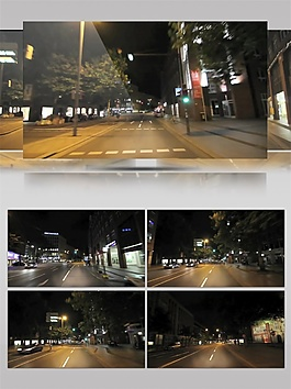 金色城市隧道动态视频素材