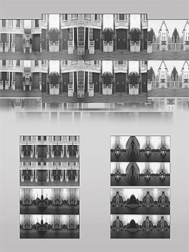 黑白复古城市动态视频素材