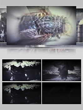 红光迷幻沙漠动态视频素材