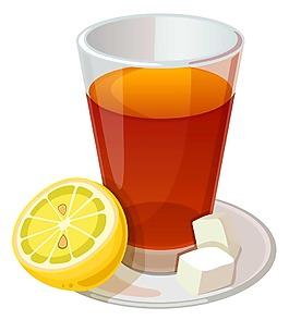 卡通橙汁檸檬汁png元素