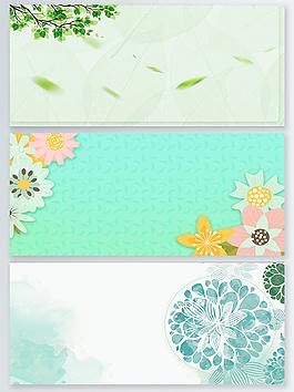 春暖花開春天背景設計圖