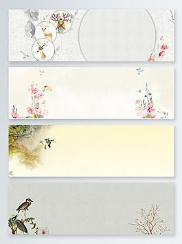 迎春春暖花開中國風背景設計圖