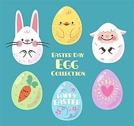 6款可愛復活節彩蛋矢量素材