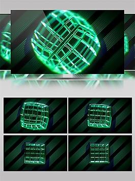 绿色方块笼子视频素材