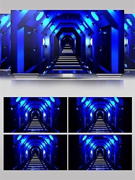 蓝色通道视频素材