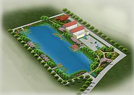 公园河分层园林PSD效果图