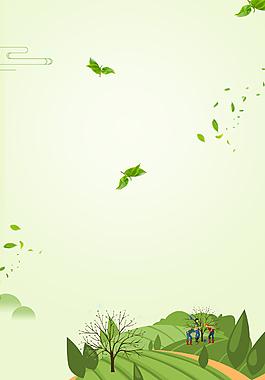植树节绿色卡通简约清新背景