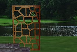 园林景观设计小品木质镂空构架