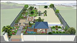 庭院设计效果图别墅花园