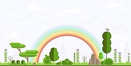 綠色環境背景矢量素材