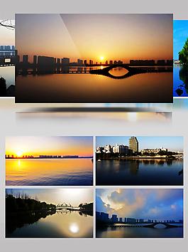 瓜渚湖延时风景