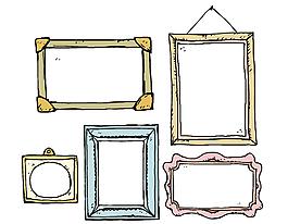 卡通手繪邊框矢量元素
