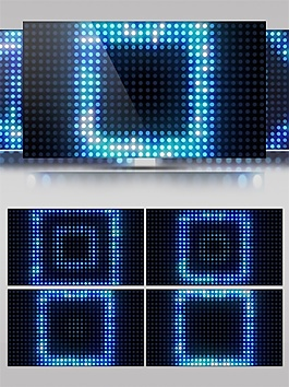 蓝色激光方块视频素材