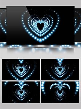 心形漸變舞臺燈光動態視頻素材