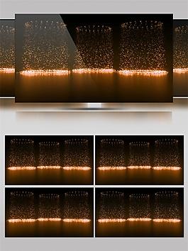金色唯美舞台灯光动态视频素材