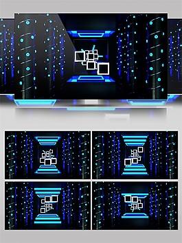 蓝色梦幻星空动态视频素材