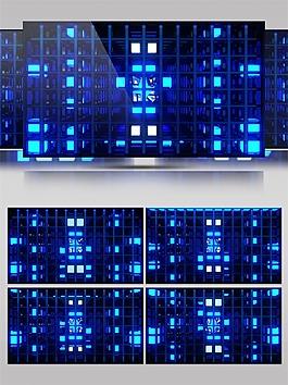 蓝色正方形方格动态视频素材