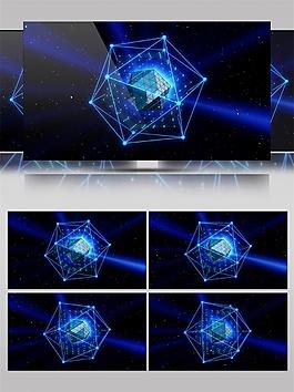 蓝色二十四边形动态视频素材