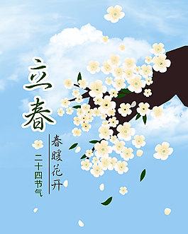 立春春暖花開海報