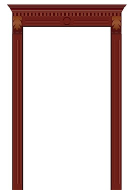 新穎原創工藝歐式高檔門框門頭高檔門線