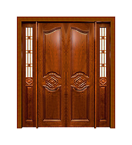 歐式復古紅木雙開門