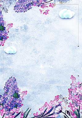 手繪水彩風春季上新海報