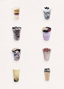 清新美味奶茶烧仙草产品实物