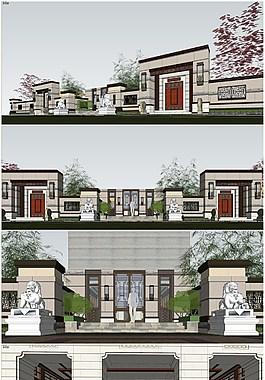精品現代大堂建筑模型