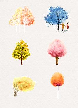 各種顏色樹木合集