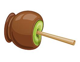 卡通创意巧克力装饰矢量元素