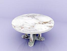 3D模型大理石桌子