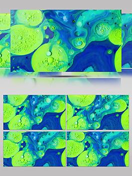 绿色迷幻海藻动态视频素材