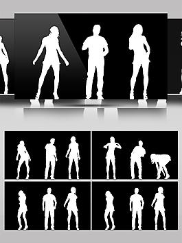 黑白动感幻影动态视频素材