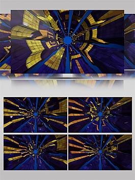 蓝色光速科幻动态视频素材