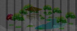 园林一景的简单效果图