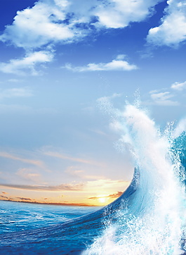 大海巨浪海報背景