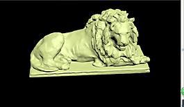 鐵獅子雕像