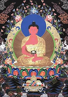 尼泊爾唐卡阿彌陀佛
