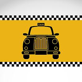 手绘边框汽车背景