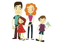 手繪可愛一家人元素