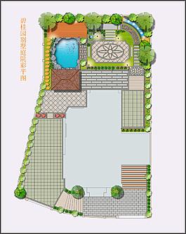 园林设计彩平图