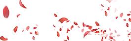 粉色櫻花桃花玫瑰花花瓣元素