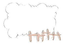 手繪幻想云朵元素