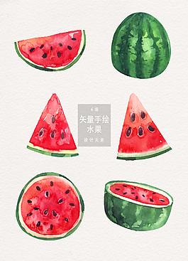 手绘水果矢量素材