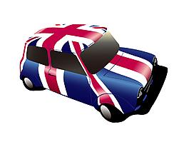 手繪時尚歐美風汽車元素