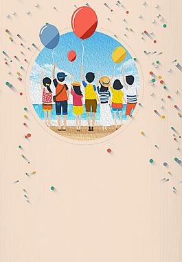 氣球畢業季高考商業背景素材