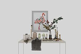 玄关饰品陶瓷金属