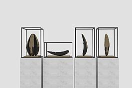 石頭裝飾臺現代造型