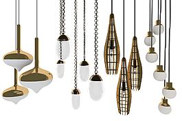 现代奢华吊灯铁艺素材
