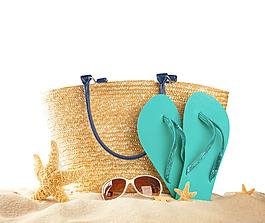 沙灘鞋包墨鏡元素